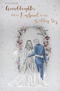 Granddaughter & Husband On Your Wedding Day Card